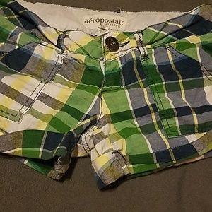 Aeropostale Plaid Shorts.. Green / Blue
